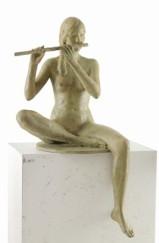 05 - Ragazza con flauto - 1997, bronzo h cm 100 -