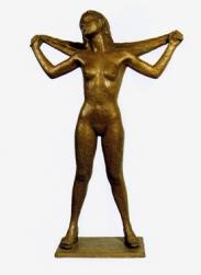 06 - Ragazza con asciugamano - 2000, bronzo altezza cm 88 -