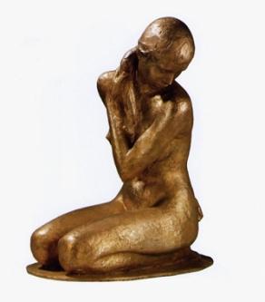 07 - Nudo inginocchiato - 2006, bronzo cm 55x49x29 -