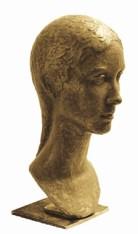 08 - Testa di ragazza - 1995, bronzo h cm 38 -