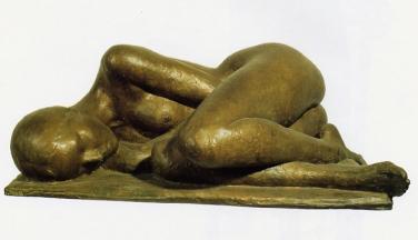09 - Nudo dormiente - 1999, bronzo cm 34x90x50 -
