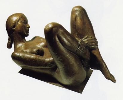 12 - Nudo - 1998, bronzo cm 106x46x53 -