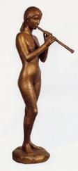 13 - Omaggio alla musica - 2002, bronzo altezza cm 88 -