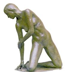 14 - Nudo sulla spiaggia - 1994 / 2006, bronzo cm 64x42x54 -