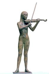 15 - Violinista - 2005, bronzo altezza cm 93 -