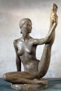 20 - Danzatrice - 2007, bronzo altezza cm 85 -