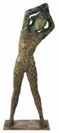 28 - Nudo nella rete - 2002, bronzo altezza cm 60 -