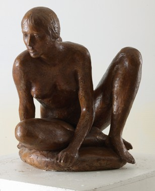 30 - Bagnante - 2008, bronzo cm 58x41x36 -