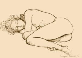 16 - Nudo dormiente - China 1998, cm 30x21 -