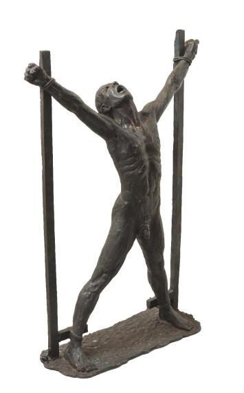 38 - Prigioniero politico (bronzo_h97cm_1977)