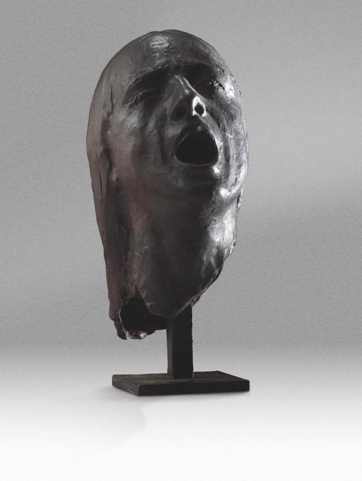 47 - L'urlo (bronzo 2000 h37 cm)