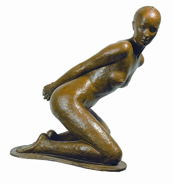 PRIGIONE bronzo h cm 60x57x48 anno 2000