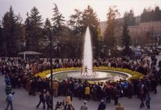 16 marzo 2002, l'inaugurazione della fontana