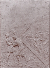 Gesù sale il Golgota con il peso della croce