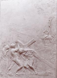 Gesù è aiutato da Simone di Cirene