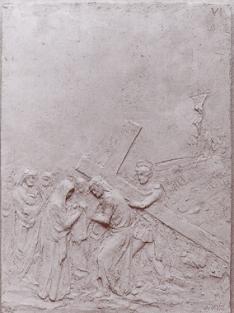 Gesù incontra Veronica, che gli deterge il volto